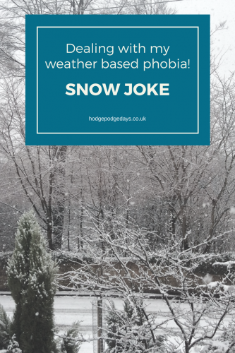 Snow Joke - dealing with my weather based phobia!