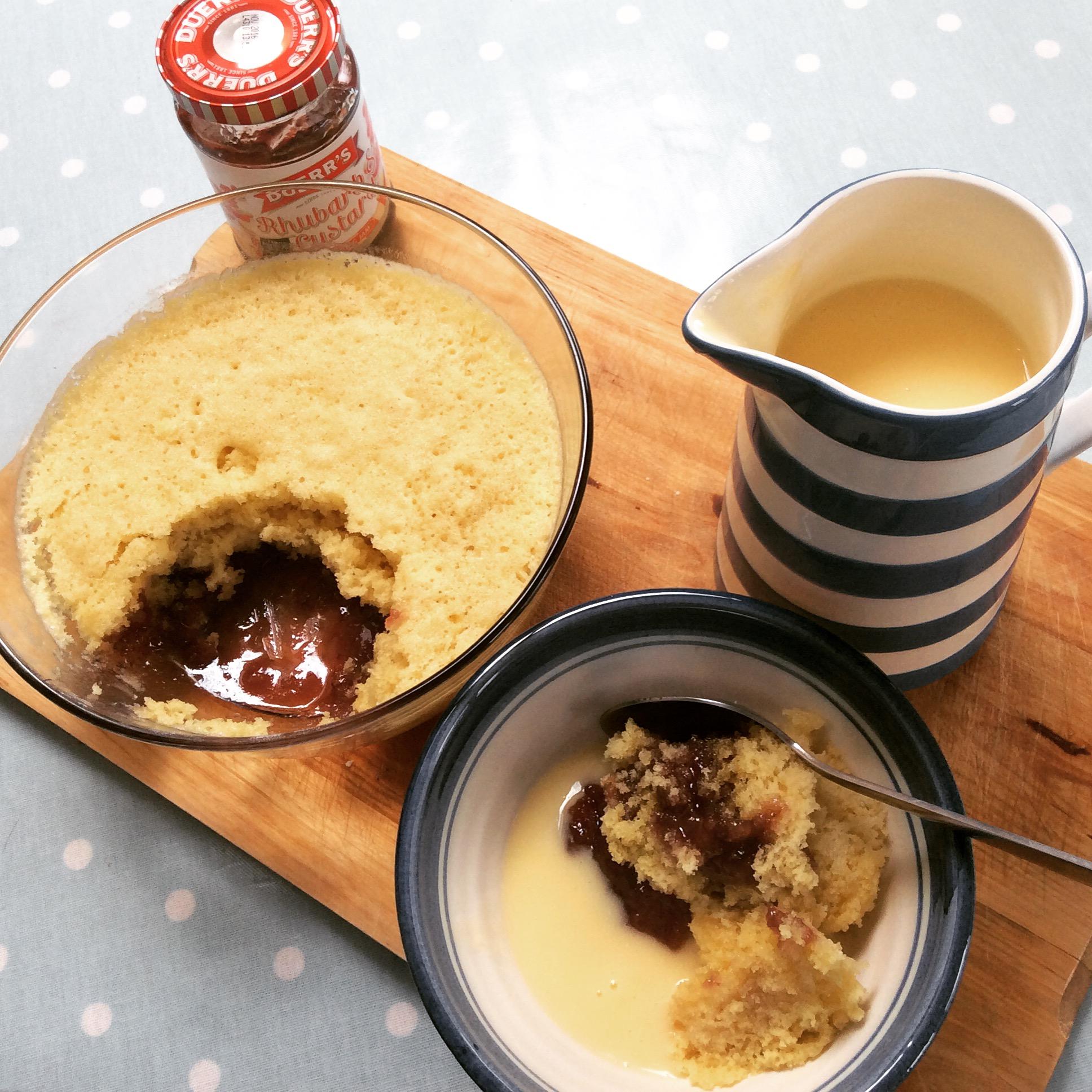 Easy Recipe Speedy Microwave Jam Sponge Hodgepodgedays