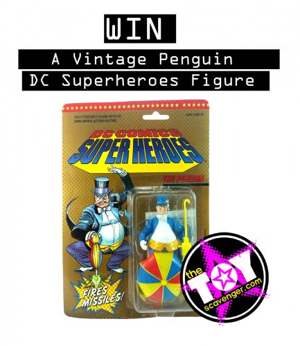 VINTAGE 1989 DC SUPERHEROES PENGUIN FIGURE