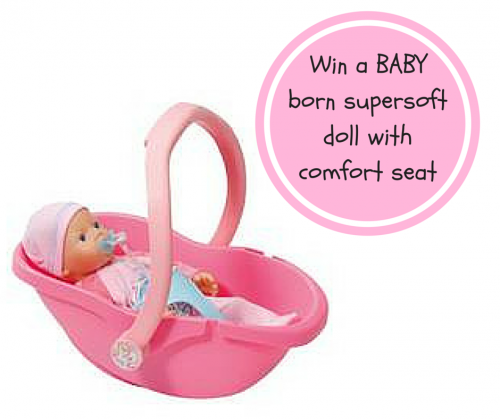 Win a BABY born supersoft doll with comfort seat