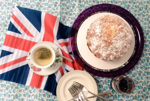 Patriotic Jam and Cream Sponge Cake