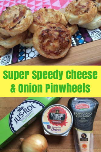 Recipe: Super Speedy Cheese and Onion Pinwheels