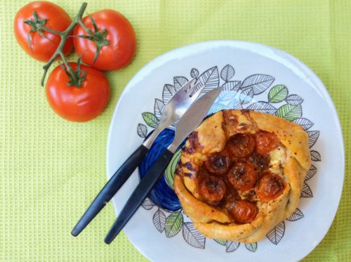Feta, Red Pesto & Tomato Galette