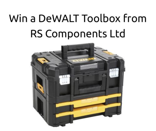 Win a DeWALT Toolbox from RS Components Ltd