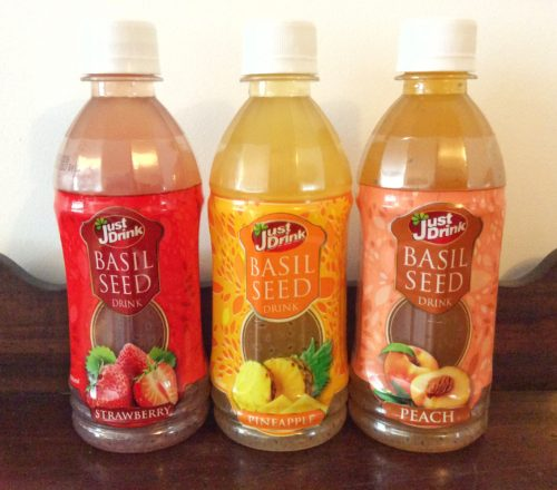 What are Just Drink Basil Seed Drinks like?