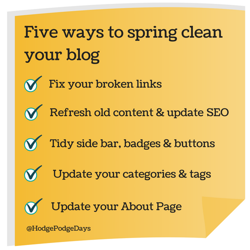 Blogging: Five ways to spring clean your blog