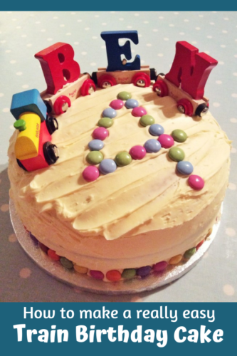 How to make a really easy train birthday cake