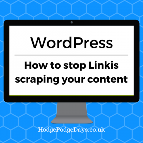 WordPress: How to stop Linkis scraping your content