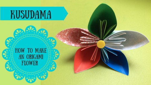 Craft Tutorial: Make your own kusudama origami flowers