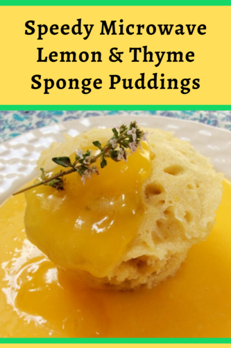 Lemon and thyme sponge pudding