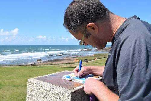 Exploring Bude with a Treasure Trails map