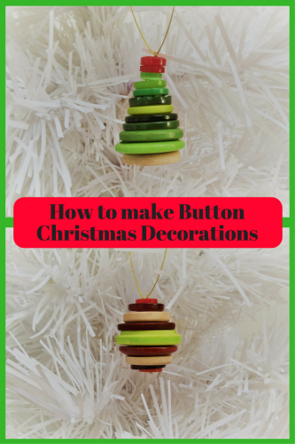 Crafts: How to make Button Christmas Decorations
