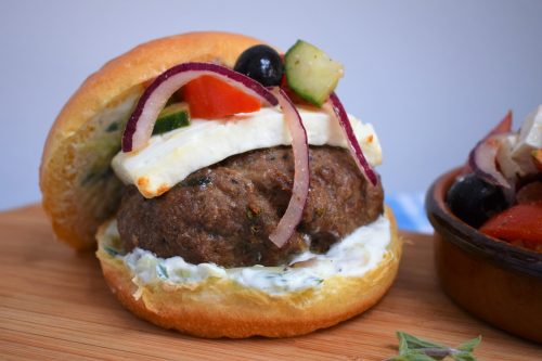 Recipe: Bifteki - Cretan Style Lamb Burger with Feta