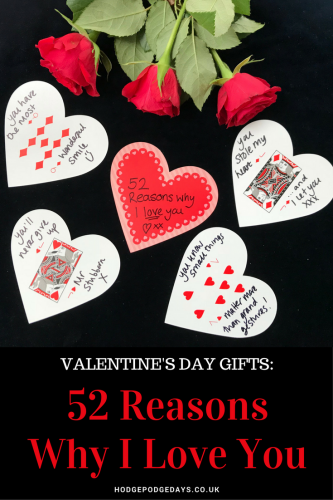 Valentine's Day Crafts: 52 Reasons Why I Love You