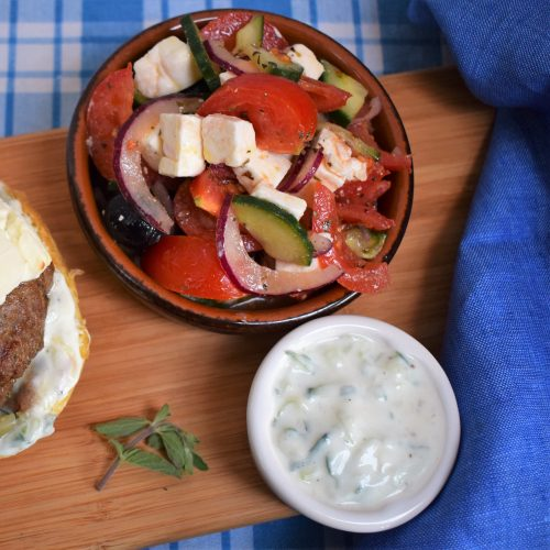 Sunshine Recipes: Traditional Greek Salad & Tzatziki
