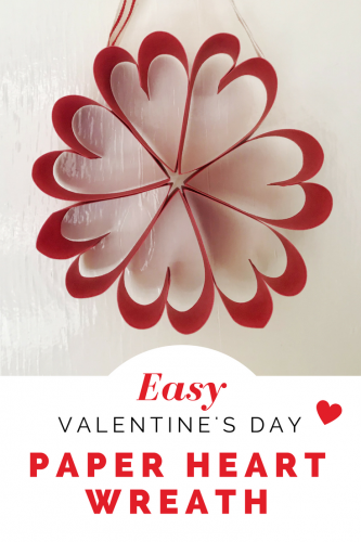 Crafts: Easy Valentine's Paper Heart Wreath