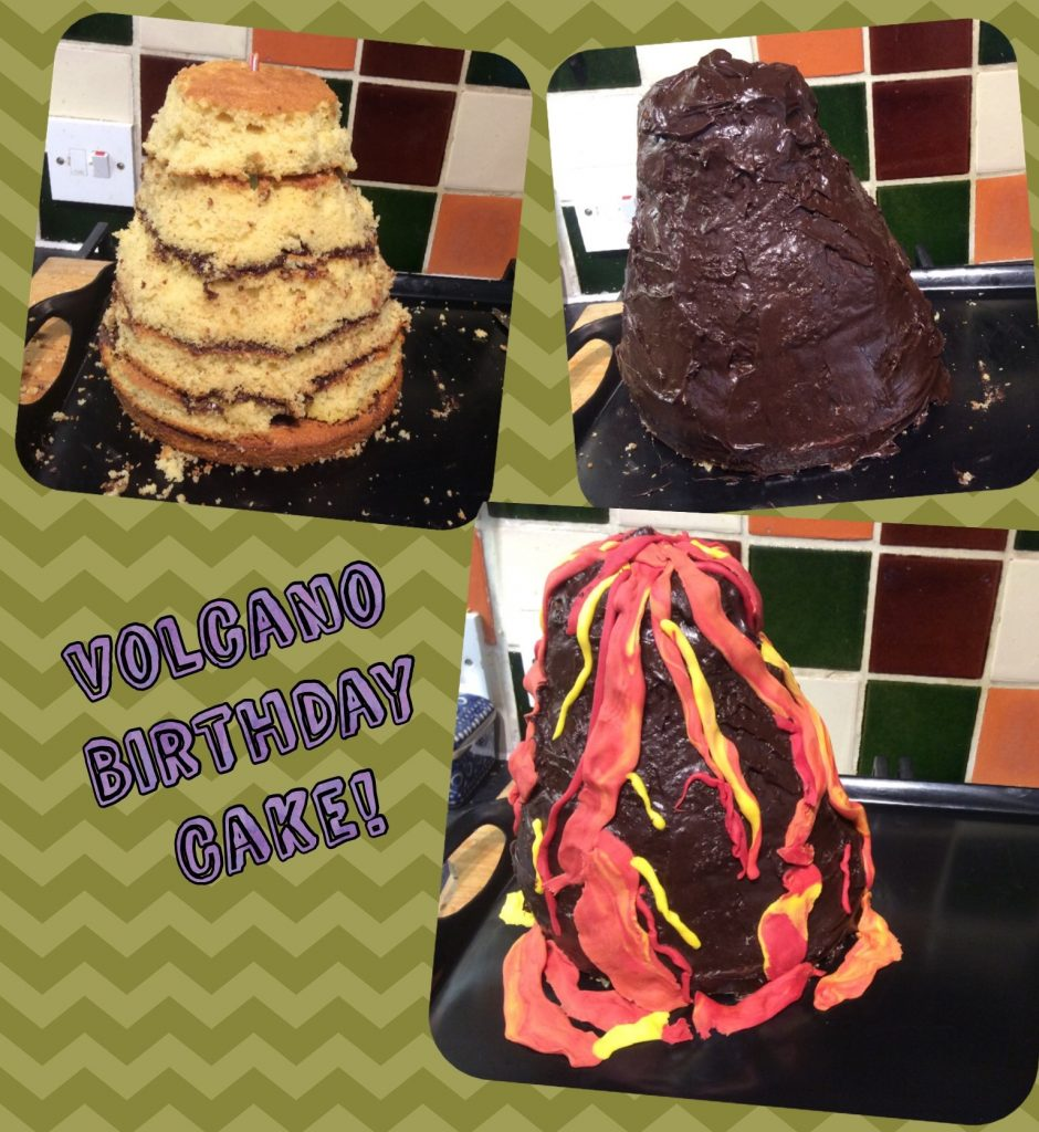 How to make an easy Volcano Birthday Cake