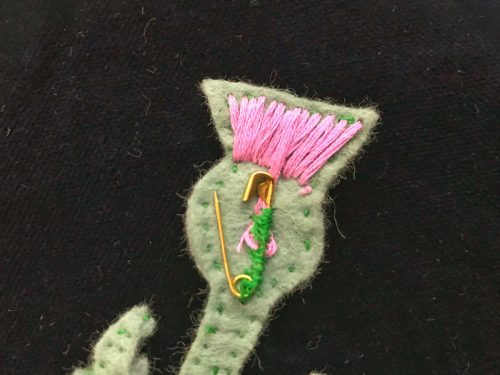 Crafts: Make your own Scottish Thistle Brooch