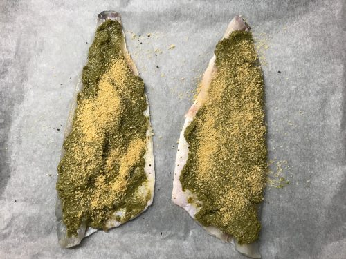 Recipe: Easy Pesto Baked Fish - a family meal favourite!