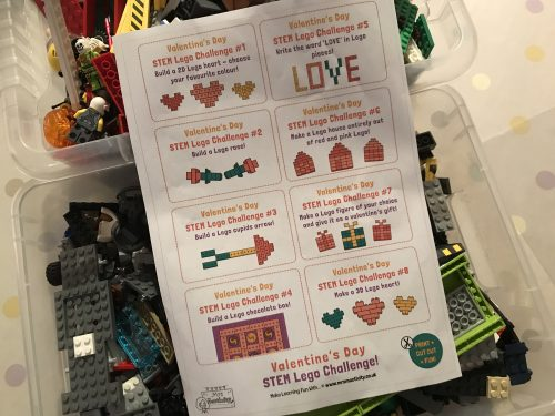 Crafts: Valentine's Lego STEM Challenge Cards