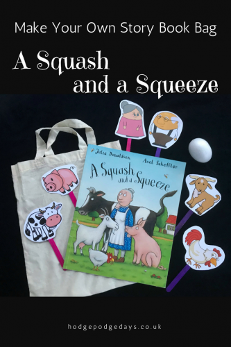 Make A Squash and a Squeeze Story Book Bag