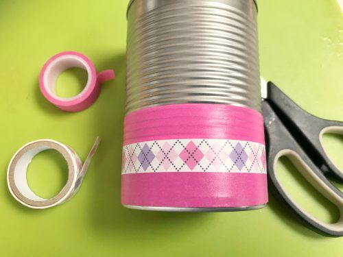 Kids Craft: How to make a Washi Tape Pen Pot