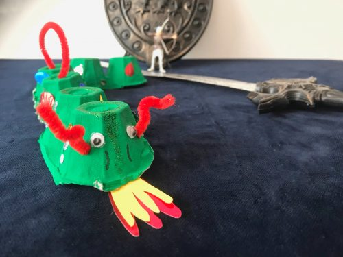 Crafts: How to make an Egg box Dragon