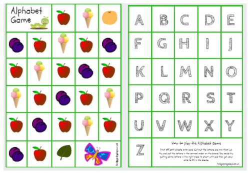 Learning: The Very Hungry Caterpillar Alphabet Game