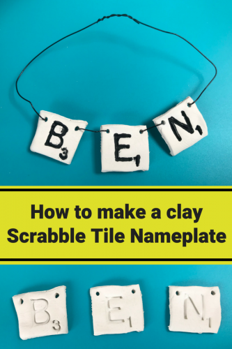 Crafts: How to make a Clay Scrabble Tile Nameplate
