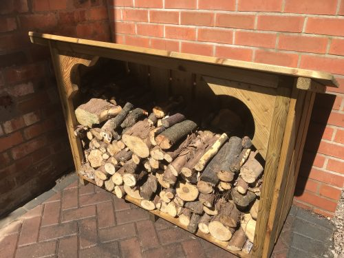 How to store logs and keep them dry for winter