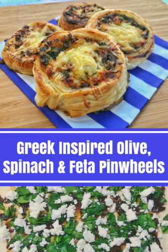 Recipe: Greek Inspired Olive, Spinach and Feta Pinwheels