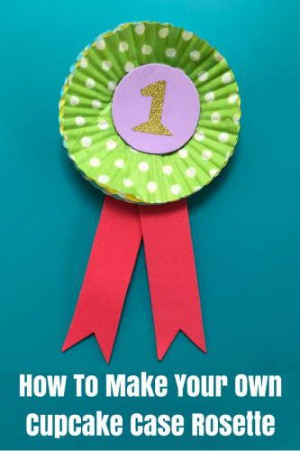Make Your Own Cupcake Case Prize Rosette