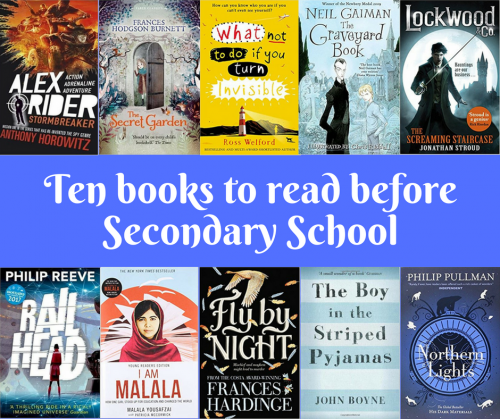 Ten books to read before Secondary School