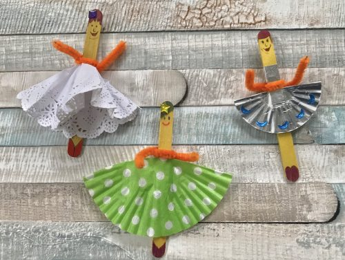 Crafts: Strictly Come Dancing Popsicle Stick Ladies