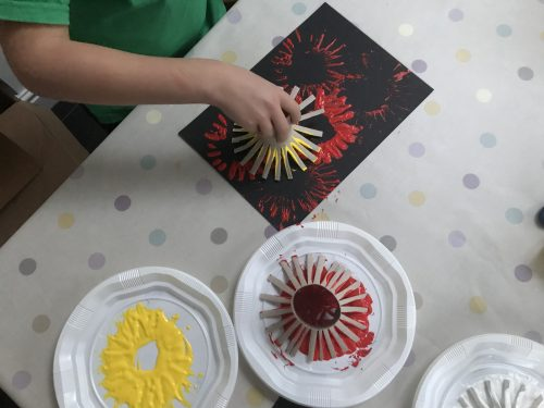 Bonfire Night Craft: Easy Firework Paintings