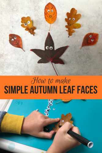 Autumn Leaf Crafts: Simple Autumn Leaf Faces
