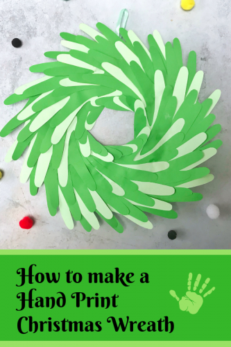 Kids Crafts: Simple Hand Print Christmas Wreath