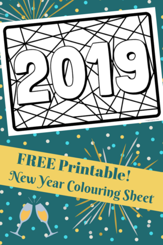 Free Printable 2019 New Year Colouring Sheet