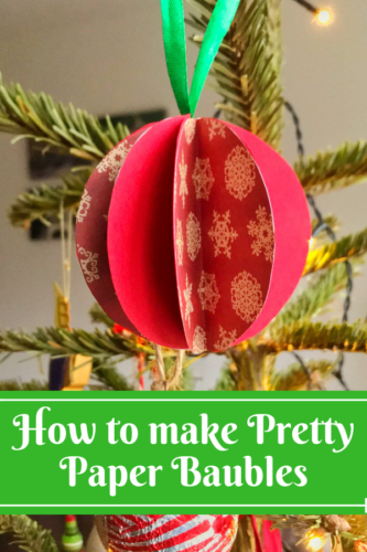 How to make Pretty Paper Baubles