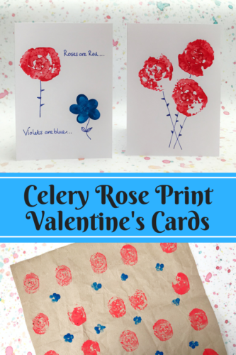 Crafts: Celery Rose Print Valentine's Cards