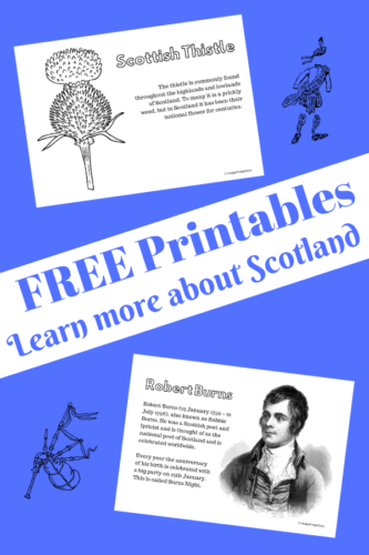 FREE Printables: Learning about Scotland
