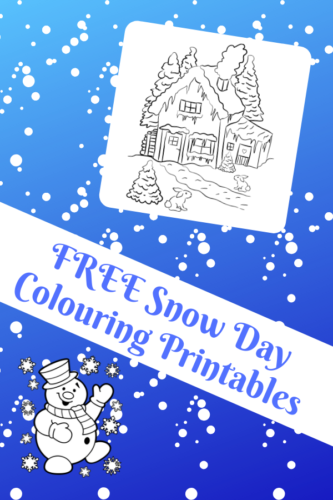 FREE Snow Day Colouring Printables