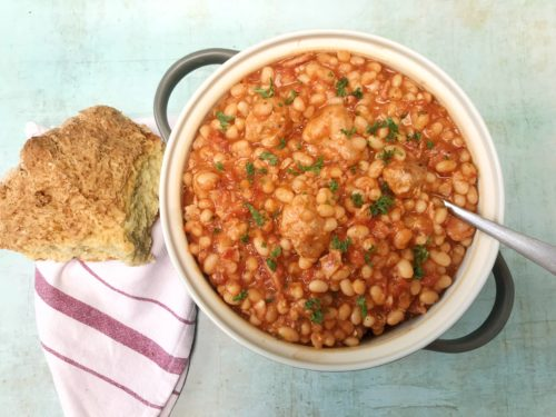 Slow Cooker Pork and Baked Beans