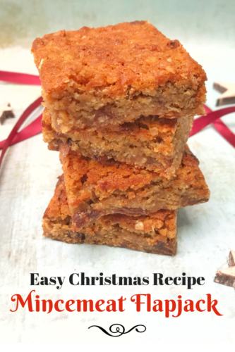 Easy Christmas Recipe: Mincemeat Flapjack