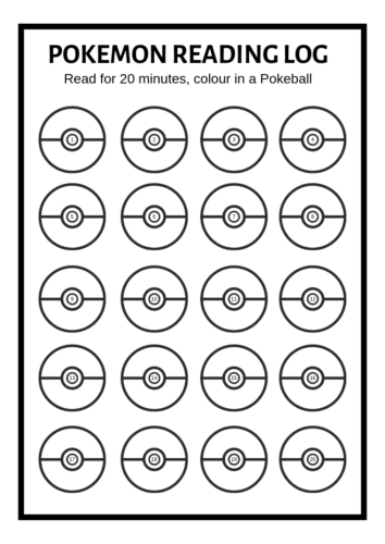 FREE Printable: Pokemon Reading Log