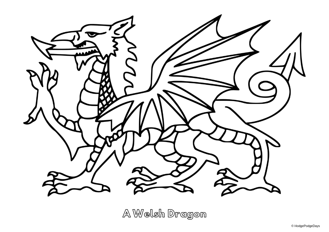 Free printables st davids day colouring sheets hodgepodgedays
