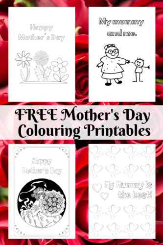 FREE Mother's Day Colouring Printables