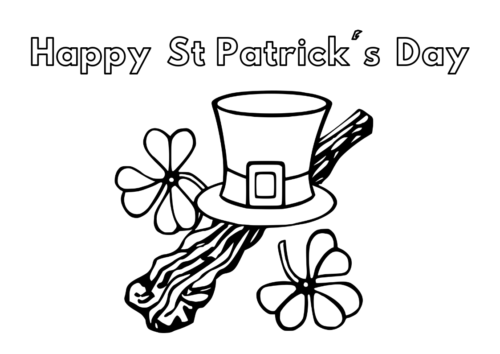 FREE Printable: St Patrick's Day Colouring Sheet