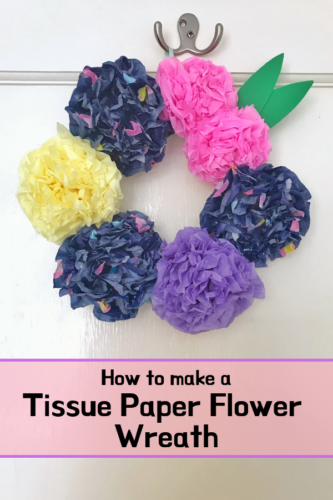 How to make a pretty Tissue Paper Flower Wreath