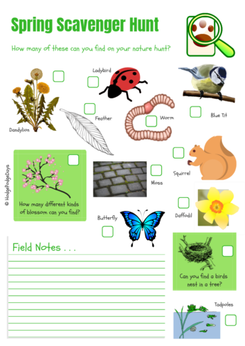 Spring Scavenger Hunt Activity + FREE Printable